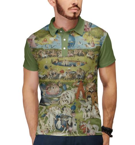 Поло Print Bar Иероним Босх. Сад земных наслаждений футболка print bar сад земных наслаждений