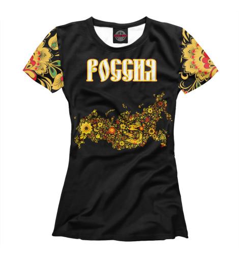где купить Футболка Print Bar Россия Хохлома по лучшей цене