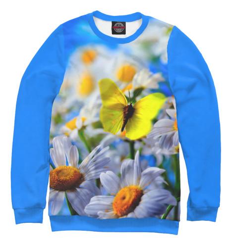 цена  Свитшот Print Bar Цветы и бабочка  онлайн в 2017 году
