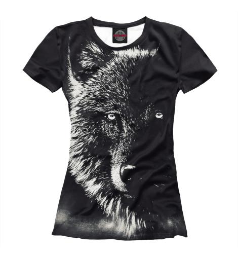 Футболка Print Bar Черный Волк футболка print bar волк тотем