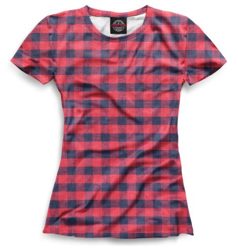 Женская футболка Клетка