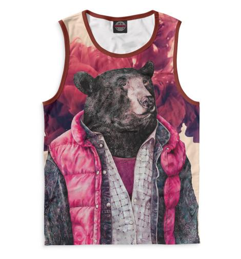 где купить  Майка Print Bar Медведь в жилетке  по лучшей цене