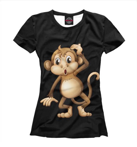Купить Женская футболка Футболка Обезьянка APD-500633-fut-1