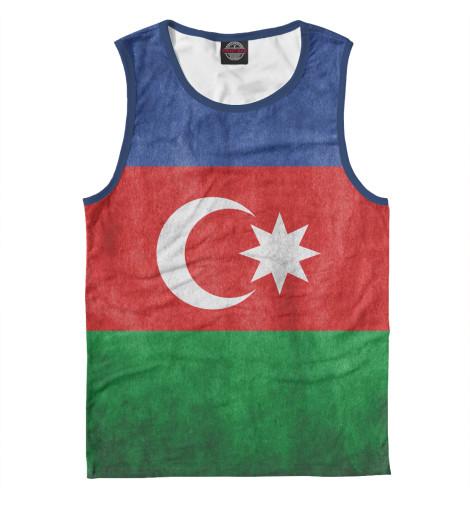 Майка Print Bar Флаг Азербайджана флаг пограничных войск россии великий новгород