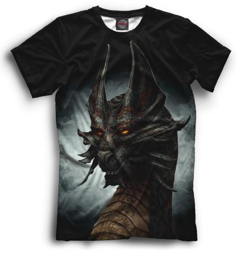 Мужская футболка Дракон