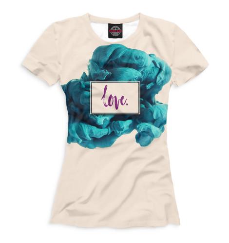 Женская футболка Love.