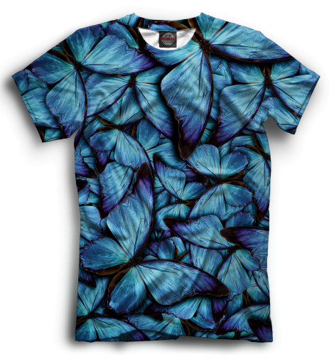 Мужская футболка Синие бабочки