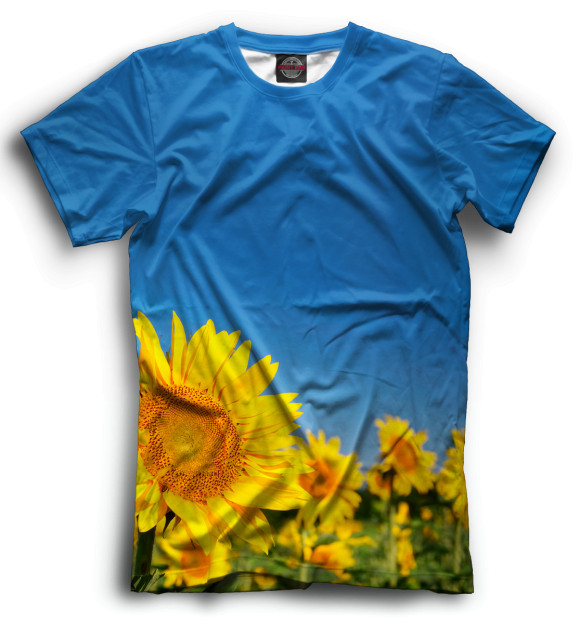 Купить Мужская футболка Цветы CVE-611180-fut-2
