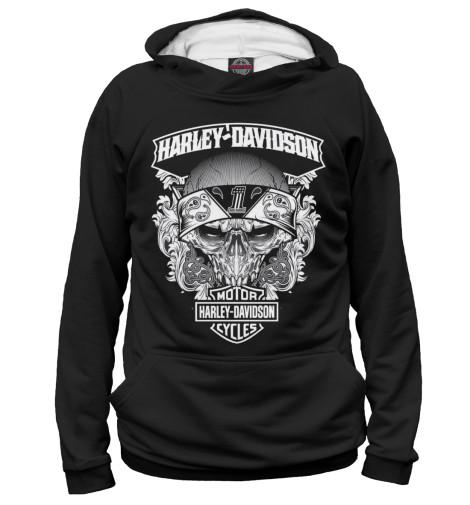 Худи Print Bar Harley-Davidson chrome custom motorcycle skeleton mirrors for harley davidson softail heritage classic