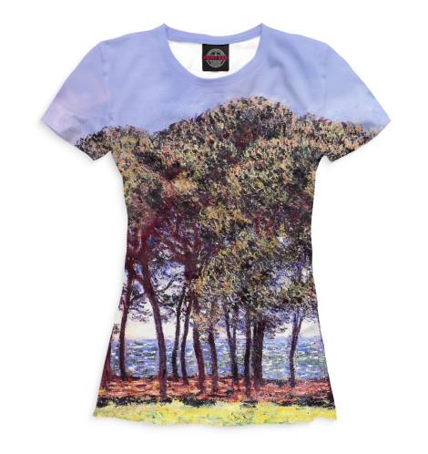 Женская футболка Сосны