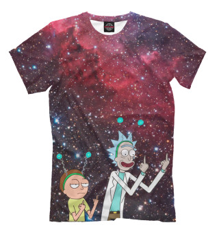 Мужская футболка Rick and Morty символ мира