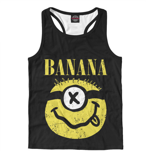 Майка борцовка Print Bar Banana Nirvama поло print bar damask banana