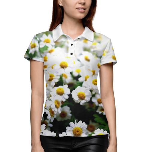 Купить Женское поло Цветок ромашки CVE-751244-pol-1