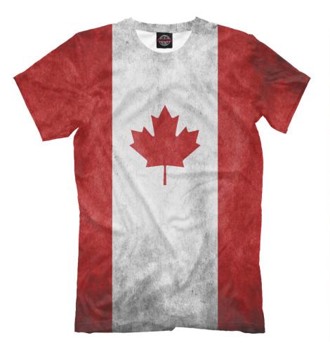 Футболка Print Bar Флаг Канады флаг пограничных войск россии великий новгород