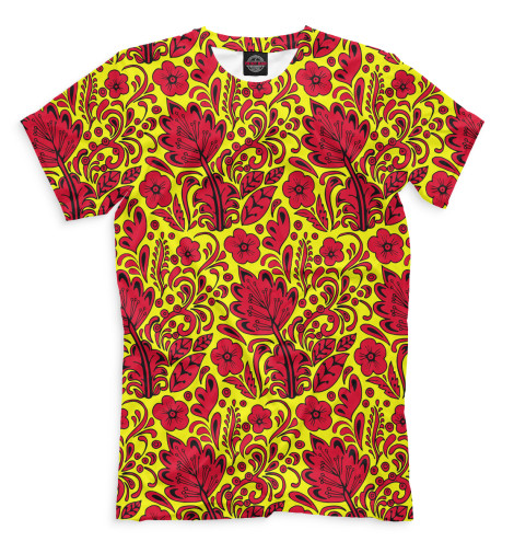 Мужская футболка Хохлома