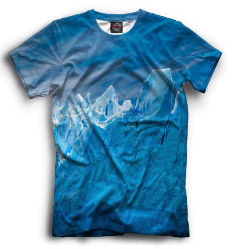 Мужская футболка Горы в снегах