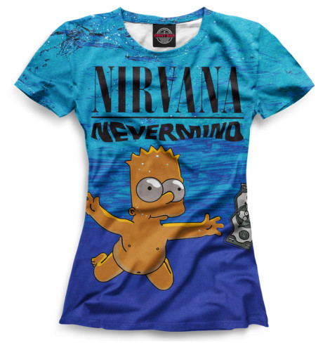 Женская футболка Nevermind