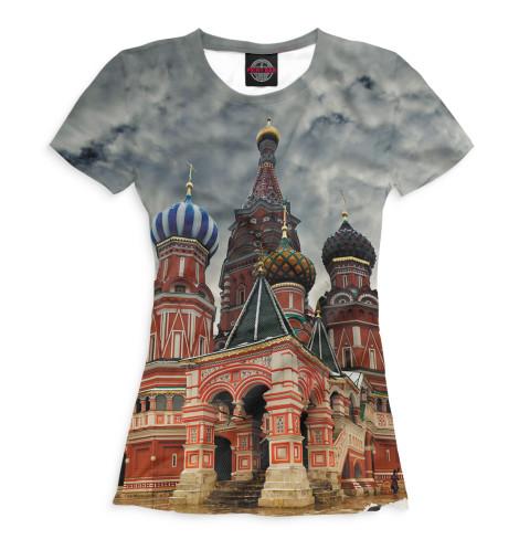 Женская футболка Собор Василия Блаженного