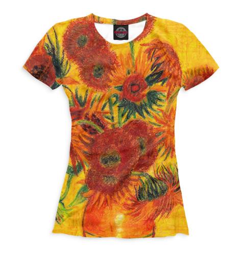 Женская футболка Подсолнухи