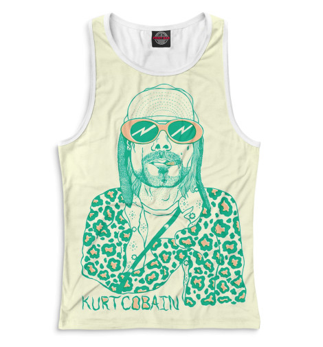 Женская майка-борцовка Kurt Cobain
