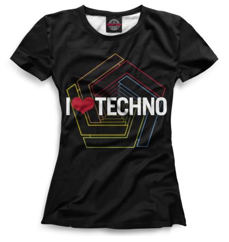 Женская футболка Techno