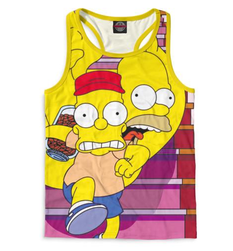 Мужская майка-борцовка Барт и Гомер