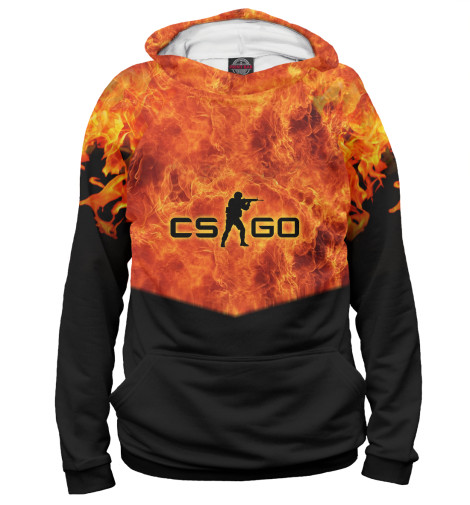 Худи Print Bar CS GO: Fire свитшот print bar lets go pal
