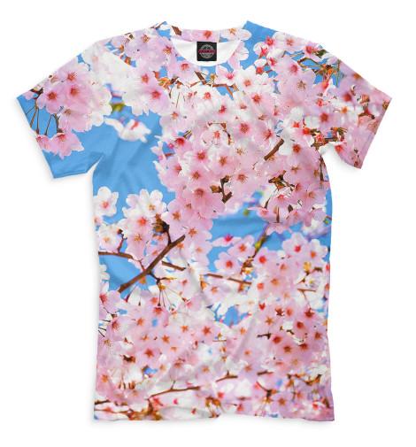 Купить Мужская футболка Цветы CVE-934410-fut-2