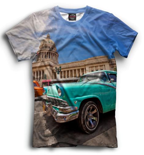 Мужская футболка Автомобили на Кубе