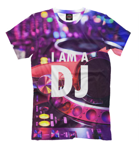 Футболка Print Bar I am a DJ 6w led bola magica sonido mando a distancia dj shop dj efectos luces efectos luz sonido eventos fiestas 7 dmx512 canales