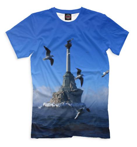 Мужская футболка Памятник затопленным кораблям