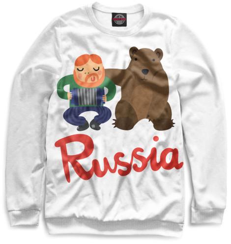 Женский свитшот Медведь и гармонист