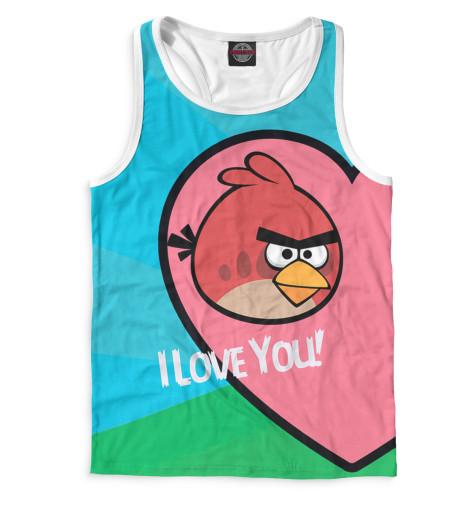 Мужская майка-борцовка Angry Birds in love