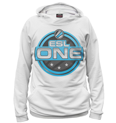 Худи Print Bar ESL One Logo White