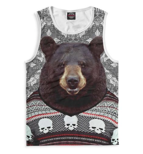 Мужская майка Медведь в свитере