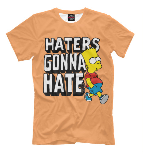 Футболка Print Bar Haters Gonna Hate футболка wearcraft premium printio haters gonna hate fluttershy doesn t care