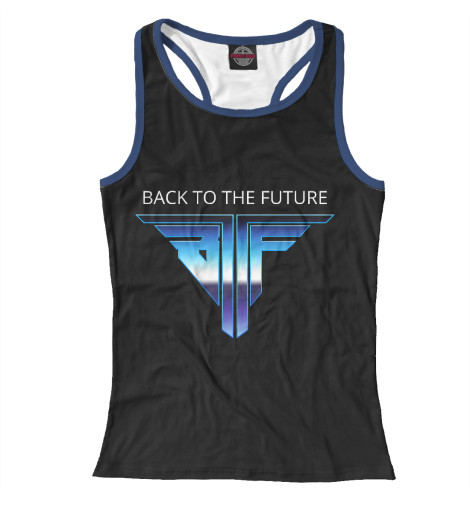 Майка борцовка Print Bar Back to the Future logo retro свитшот print bar go to valhalla with ragnar