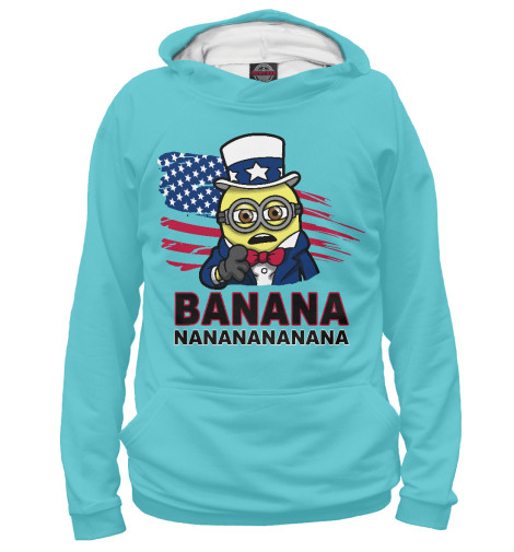 Худи Print Bar Banana USA майка борцовка print bar banana usa