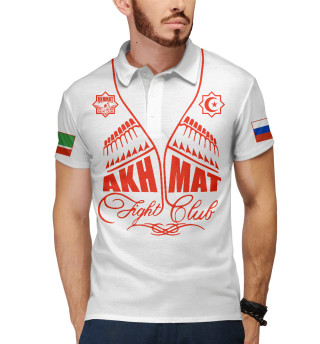 Мужское поло Fight Club Akhmat White