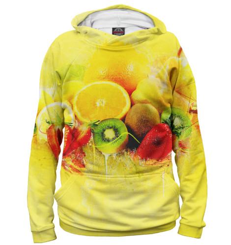 Женское худи Фрукты и ягоды