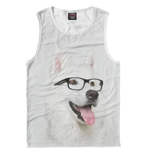 Майка Print Bar Хаски в очках щенков хаски в балашихе