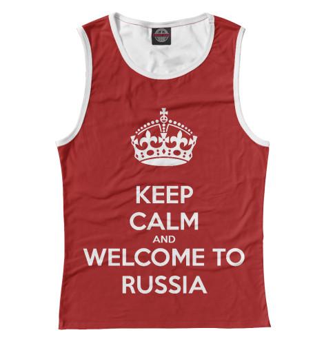 Майка Print Bar Welcome to Russia майка print bar russia welcome