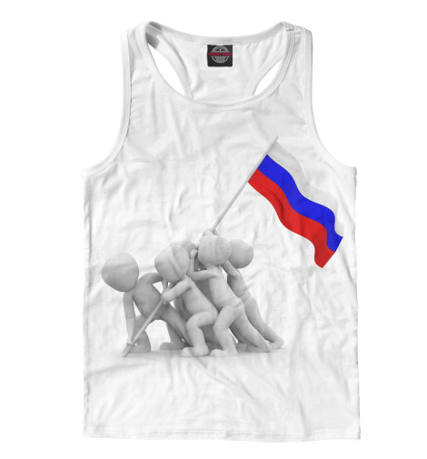 Майка борцовка Print Bar Флаг флаг пограничных войск россии великий новгород