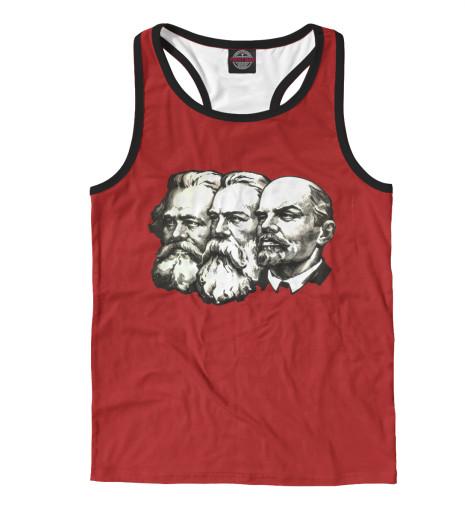 Майка борцовка Print Bar Маркс,Энгельс,Ленин