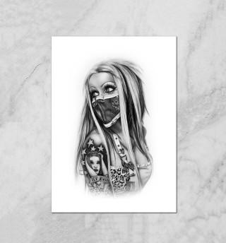 Бандитка в татуировках