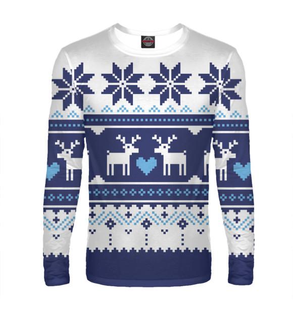 b6e06bfb302 Лонгслив Скандинавский свитер с оленями NOV-346025-lon-2 - купить в ...