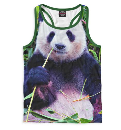 Мужская майка-борцовка Панда