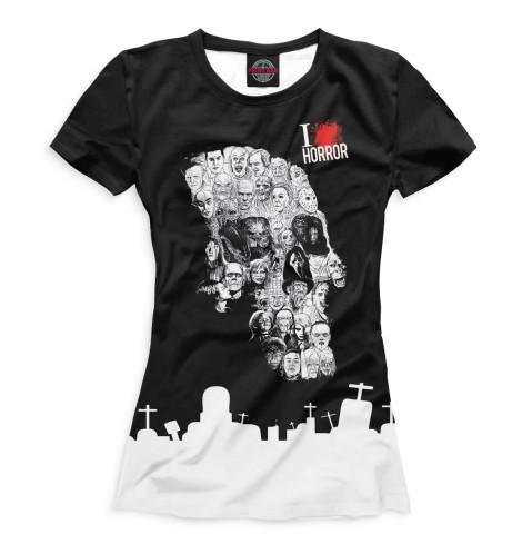 Женская футболка I Love Horror