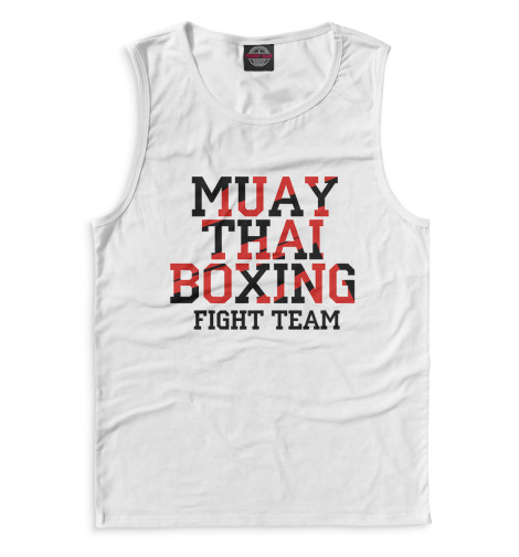 Майка Print Bar Muay Thai Boxing свитшот print bar muay thai boxing