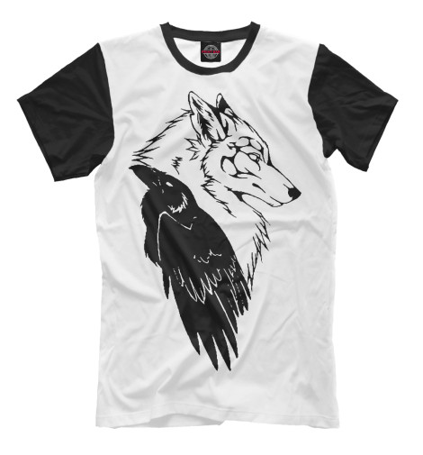 Футболка Print Bar Wolf & Raven худи print bar native wolf